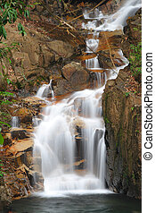 Motion of waterfall in national park