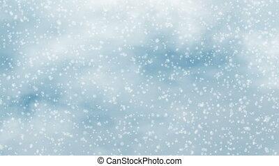 motion of winter snowflake snowfall