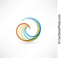 motion., ontwerp, spiraal, communie