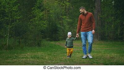 motion:, paternité, sien, forêt, beau, peu, frais, jeune, ...