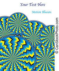 (motion, revoluciones, ilusión, zigzag