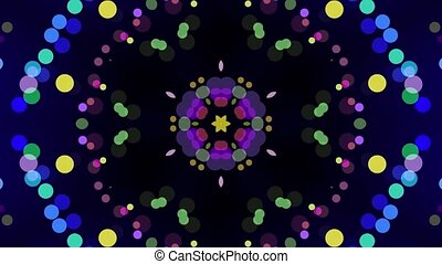 Colorful geometrical pattern, kaleidoscope shimmering background. Abstract Colorful Kaleidoscope Background.