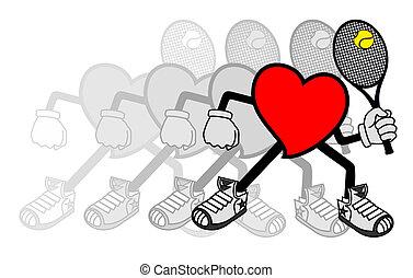 Motion tennis - Creative design of motion heart tennis