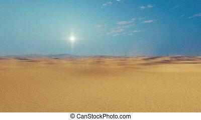 Motion through african sandy desert 4K