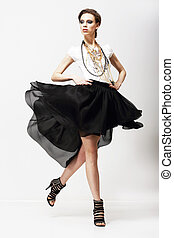 motion., vitality., luxuoso, supermodel, em, vibrar, moda,...