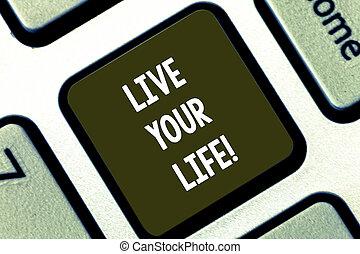 motiváció, keypad, fénykép, aláír, nyomás, billentyűzet, követ, üzenet, -e, teljesít, alkot, intention, él, szöveg, fogalmi, kiállítás, kapu, kulcs, álmodik, ihlet, idea., számítógép, life.