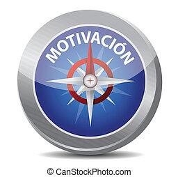 motivação, compasso, lustroso, espanhol
