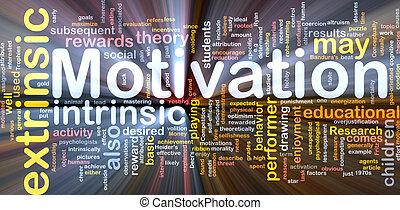 motivação, conceito, osso, glowing, fundo
