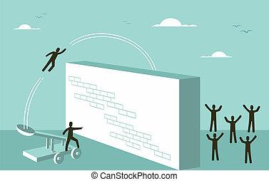 motivação, conceito, sucesso, estratégia negócio, trabalho equipe
