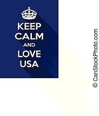motivação, molusco, amor, eua, vertical, cartaz, estilo, azul-branco, retangular, retro, vindima, baseado, mantenha