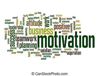 motivação, palavra, nuvem