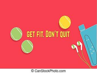 motivação, quit., fit., adquira, concept., faça, quotes., condicão física, desporto