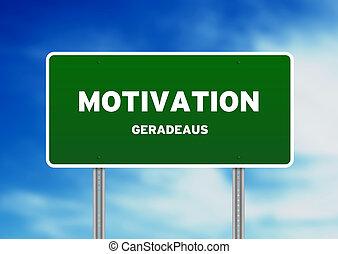 motivação, sinal rua