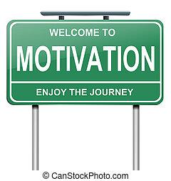 motivación, concept.