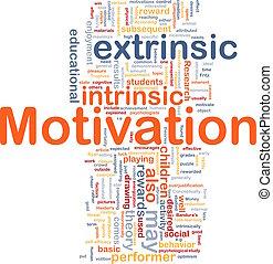 motivación, concepto, hueso, plano de fondo