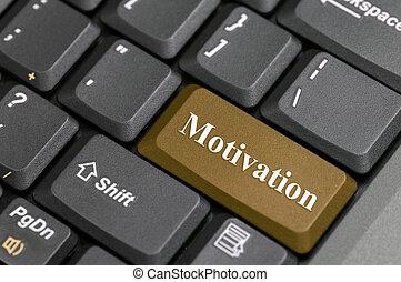 motivación, llave, teclado