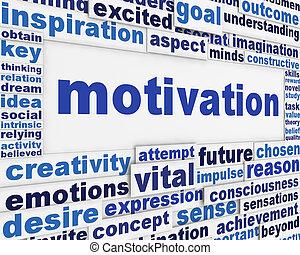 motivación, mensaje, plano de fondo