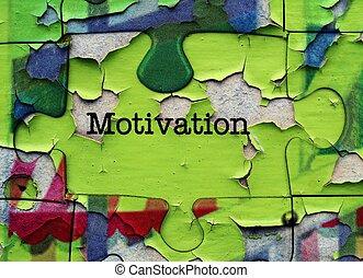 motivación, rompecabezas, concepto