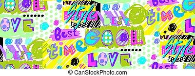 motivar, patrón, luche, frases, brillante, moderno, borde, estilos, arte, taponazo