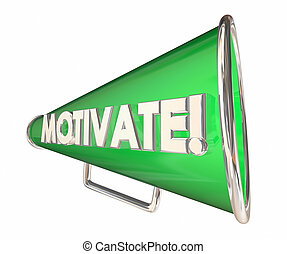 Motivate Bullhorn Megaphone Inspirational Message 3d Illustration