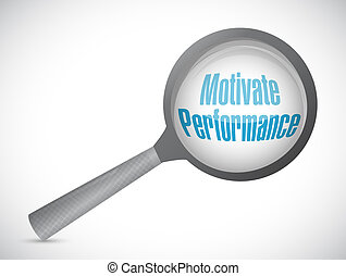 Motivate Performance review sign concept