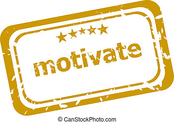 motivate stamp isolated on white background