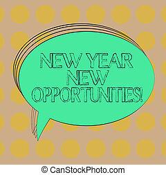 motivatie, concept, kleur, opportunities., jaar, photo., leeg, ovaal, balloon, start, toespraak, tekst, nieuw, 365, bel, lege, geschetste, betekenis, inspiratie, vast lichaam, dagen, fris, handschrift
