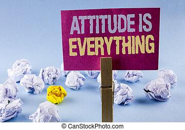 motivation, agrafe, photo, collant, attitude, papier, écriture, note, texte écrit, conceptuel, business, projection, main, réussir, everything., fond, inspiration, balles, uni, optimisme, important