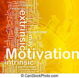 Motivation background concept - Background concept wordcloud...