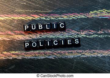 motivation, bois, tableau noir, image, croix, blocks., arrière-plan., traité, policies, concepts, education, inspiration, public