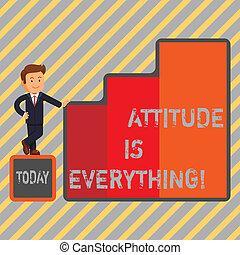 motivation, business, photo, projection, optimisme, écriture, note, attitude, important, everything., showcasing, succeed., inspiration