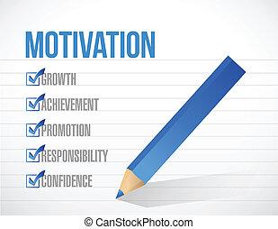 motivation check list illustration