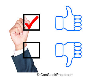motivation choose thumb up solution for success