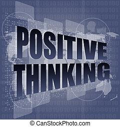 motivation, concept, business, pensée, positif, écran, -