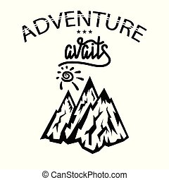 motivation, concept, découverte, randonnée, voyage, voyage, aventure, tourisme, exploration.