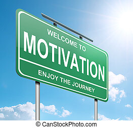 Motivation concept. - Illustration depicting a green ...