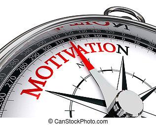 motivation conceptual compass on white background