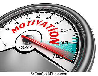 Motivation conceptual meter indicate hundred per cent