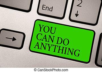 motivation, croire, business, gris, photo, projection, anything., vous-même, note, showcasing, informatique, noir, quelque chose, clavier, bouton, vert, vous, écriture, letters., argent, boîte