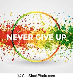 motivation, eclabousse, clair, peinture