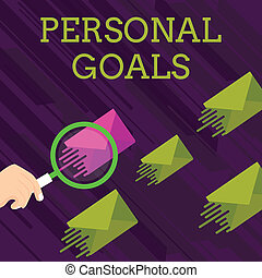 motivation, ensemble, couleur, texte, influence, une, magnifier, différent, personnel, même, shade., photo, conceptuel, a, sien, projection, enveloppe, verre, démontrer, autres, goals., signe, cible, efforts