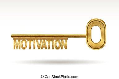 motivation - golden key isolated on white background