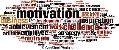 Motivation-horizon - Motivation word cloud concept. Vector ...