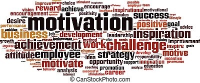 Motivation-horizon.eps - Motivation word cloud concept....