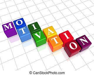 motivation in colour - 3d colour boxes with text -...