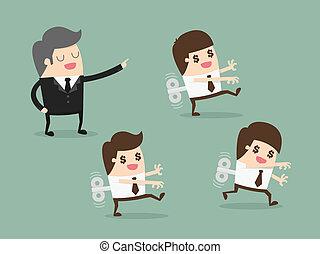 Motivation - Mechanical businessman, Clockwork Businessman, ...