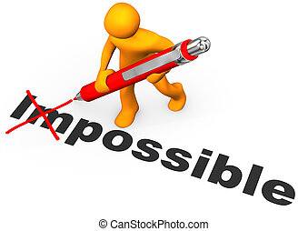 Motivation - Orange cartoon character makes impossible ...