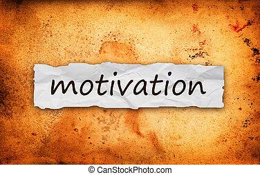 motivation, papier, morceau, titre