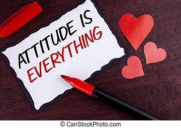 motivation, photo, collant, attitude, papier, marqueur, écriture, note, texte écrit, conceptuel, business, projection, main, réussir, everything., fond, inspiration, bois, optimisme, important, cœurs
