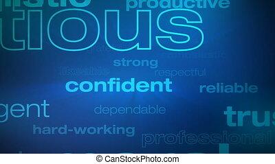motivation, reussite, mots, boucle